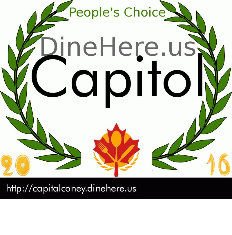 Capitol DineHere.us 2016 Award Winner